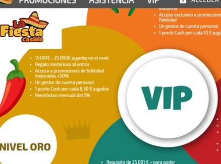 VIP Bonos La Fiesta Casino Promociones