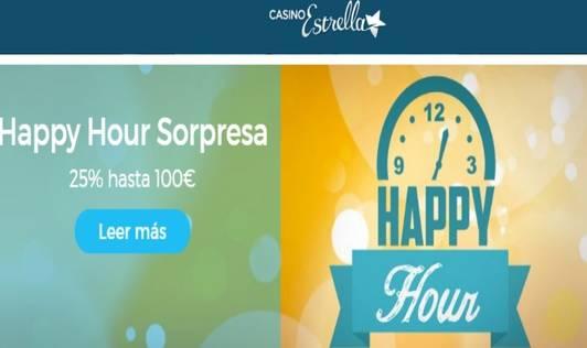 Happy Hour Casino Estella Promoción por depósito 25%