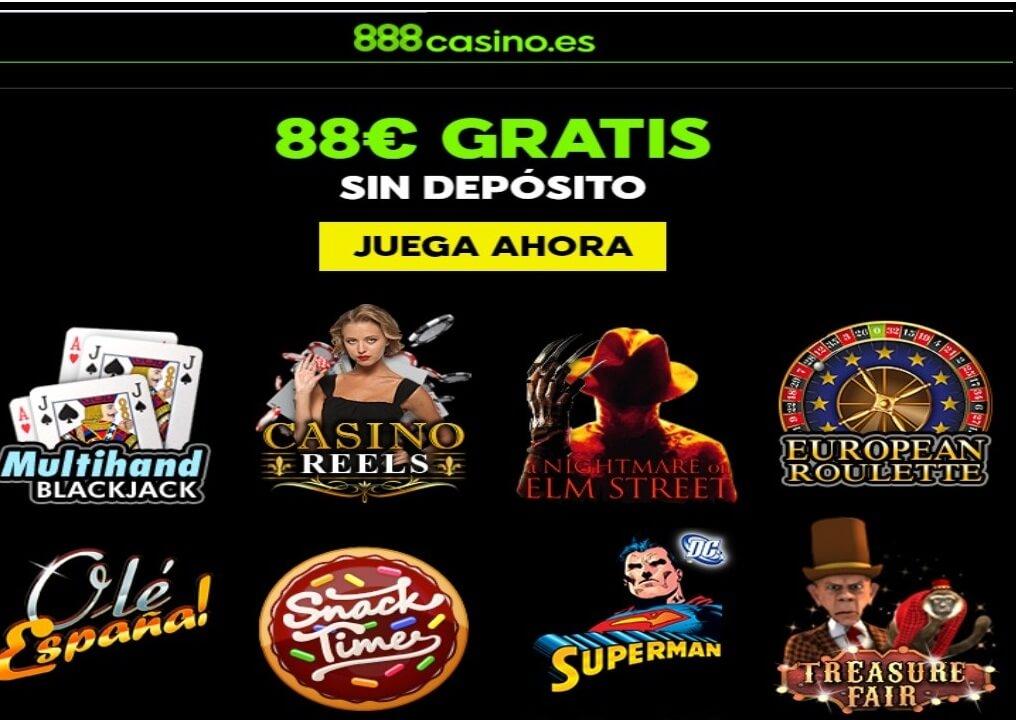 Bono de 88 euros por registro en Casino 888