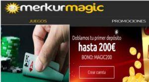 200 euros esperan por el primer depósito en Merkurmagic