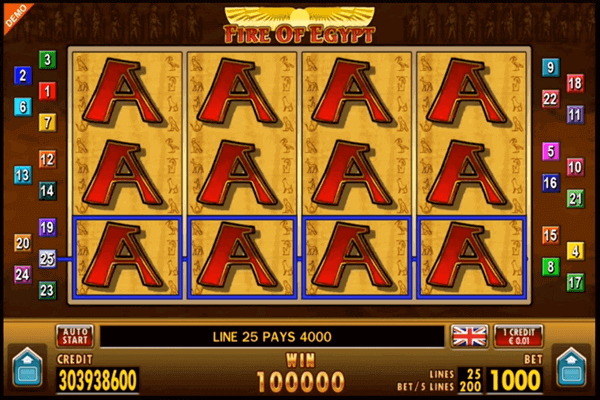 slots Fire of Egypt
