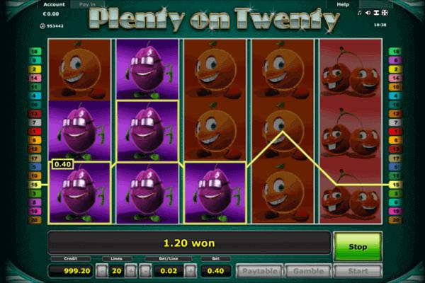 slots Plenty on Twenty