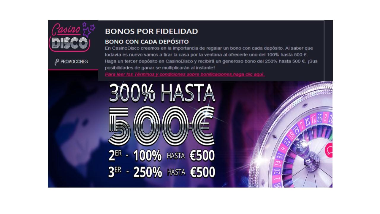 Fantástico Bono de fidelidad Casino Disco