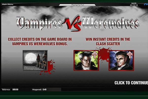tragamonedas Vampires vs Werewolves
