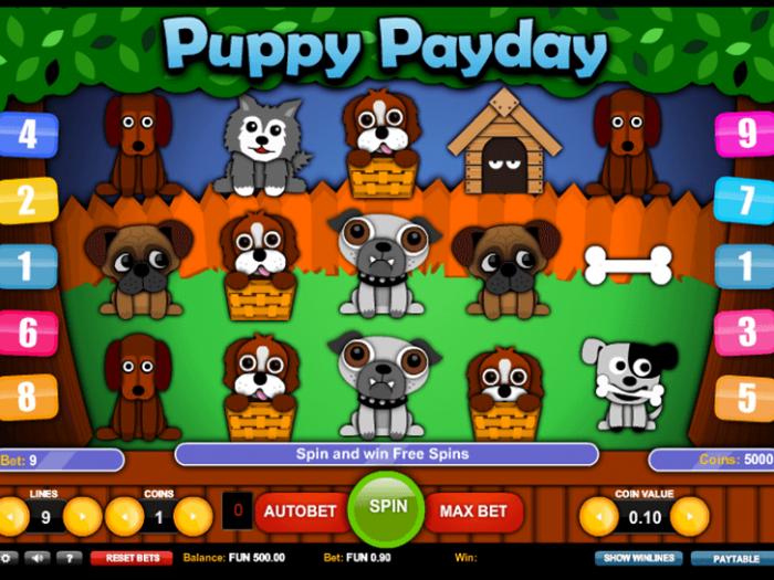 Tragamonedas Puppy PayDay iframe