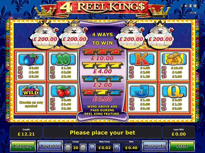 tragamonedas 4 reel king
