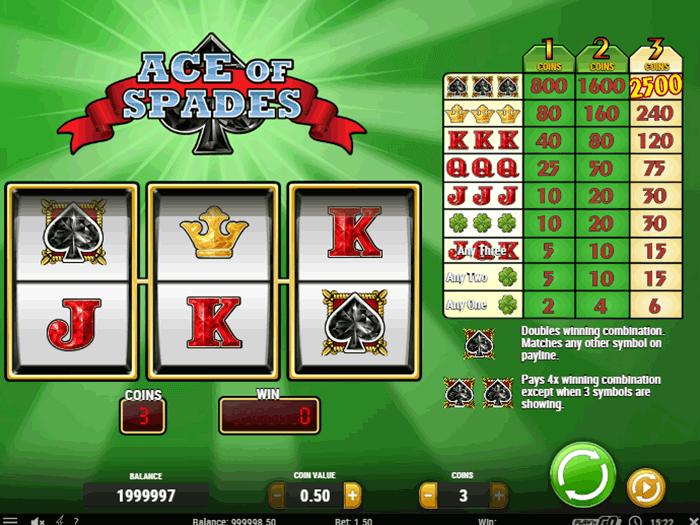 tragamonedas ace of spades iframe