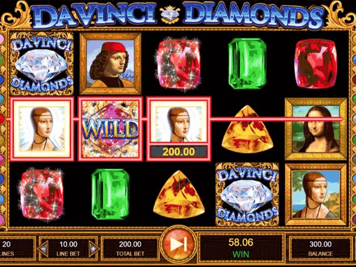 Tragamonedas Da Vinci Diamonds iframe