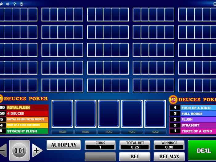 25x deuces poker iframe